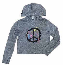 Firehouse Splatter Peace Grey Hoodie