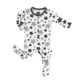 Kickee Pants Grey Star Footie