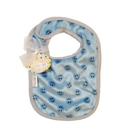 Baby Jar Blue Smiley Bib