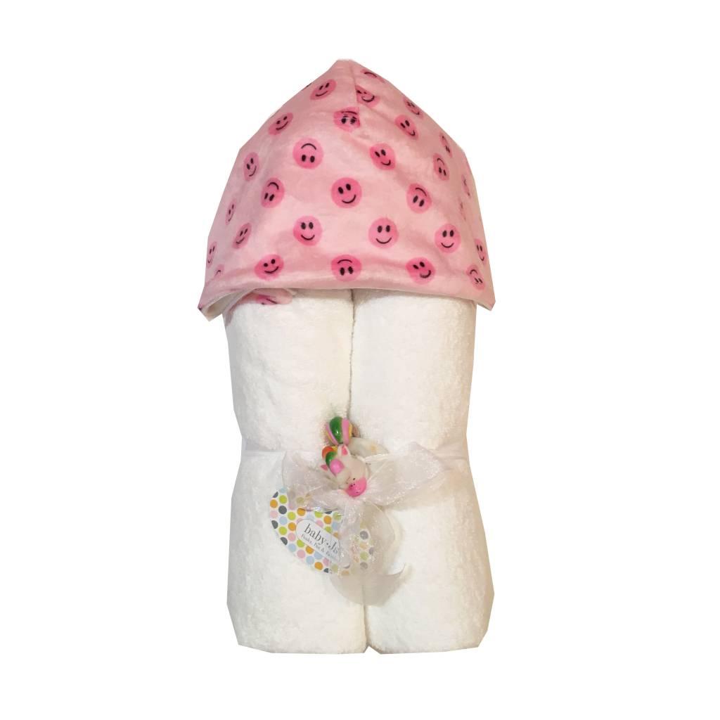 Baby Jar Pink Smiley Hooded Towel