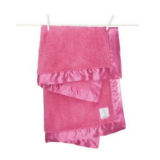 Little Giraffe Hot Pink Chenille Blanket