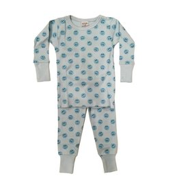 Baby Steps Blue Smiley PJ Set