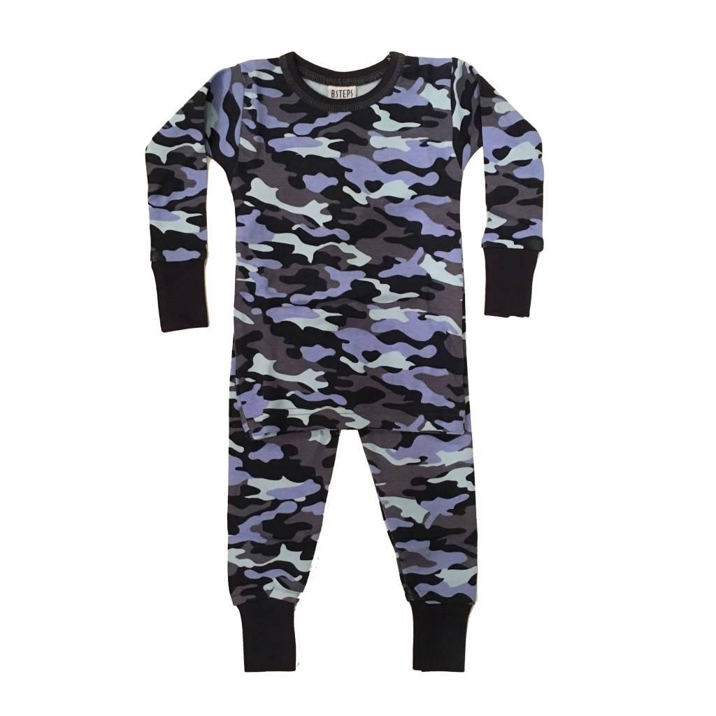 Baby Steps Navy Camo PJ Set