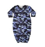 Baby Steps Navy Camo Gown