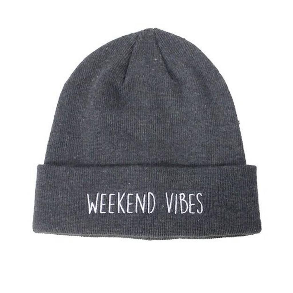 Grey Weekend Vibes Beanie