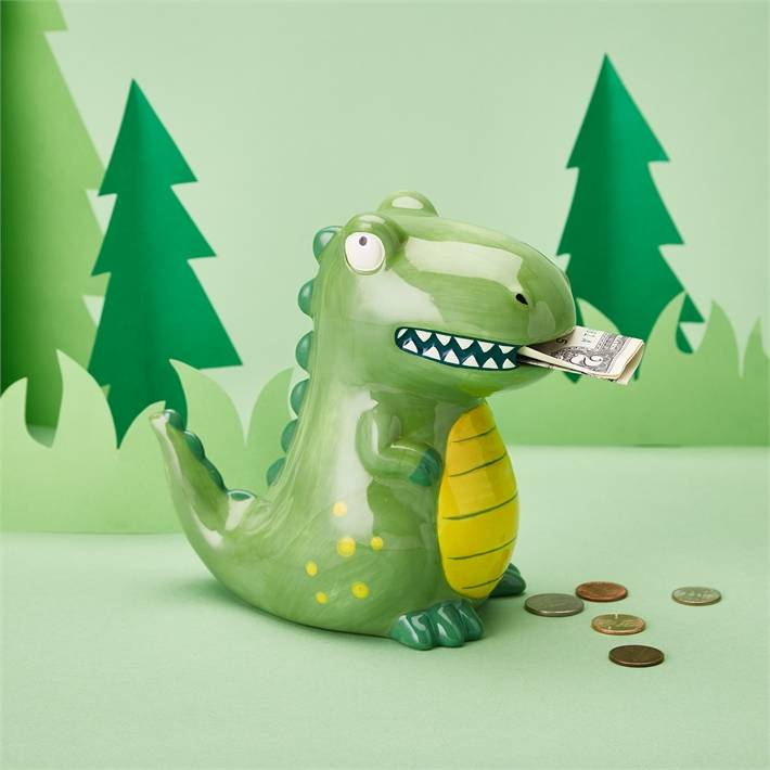 Ceramic Dino Piggy Bank