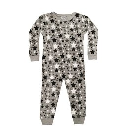 Baby Steps Black Stars Infant PJ Set