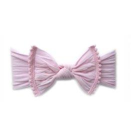 Baby Bling Pom Pom Headbands Blk, Lt pink, White