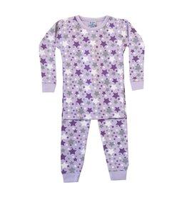 Baby Steps Lavender Stars Infant PJ Set