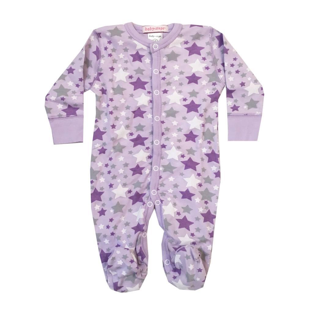 Baby Steps Lavender Stars Footie