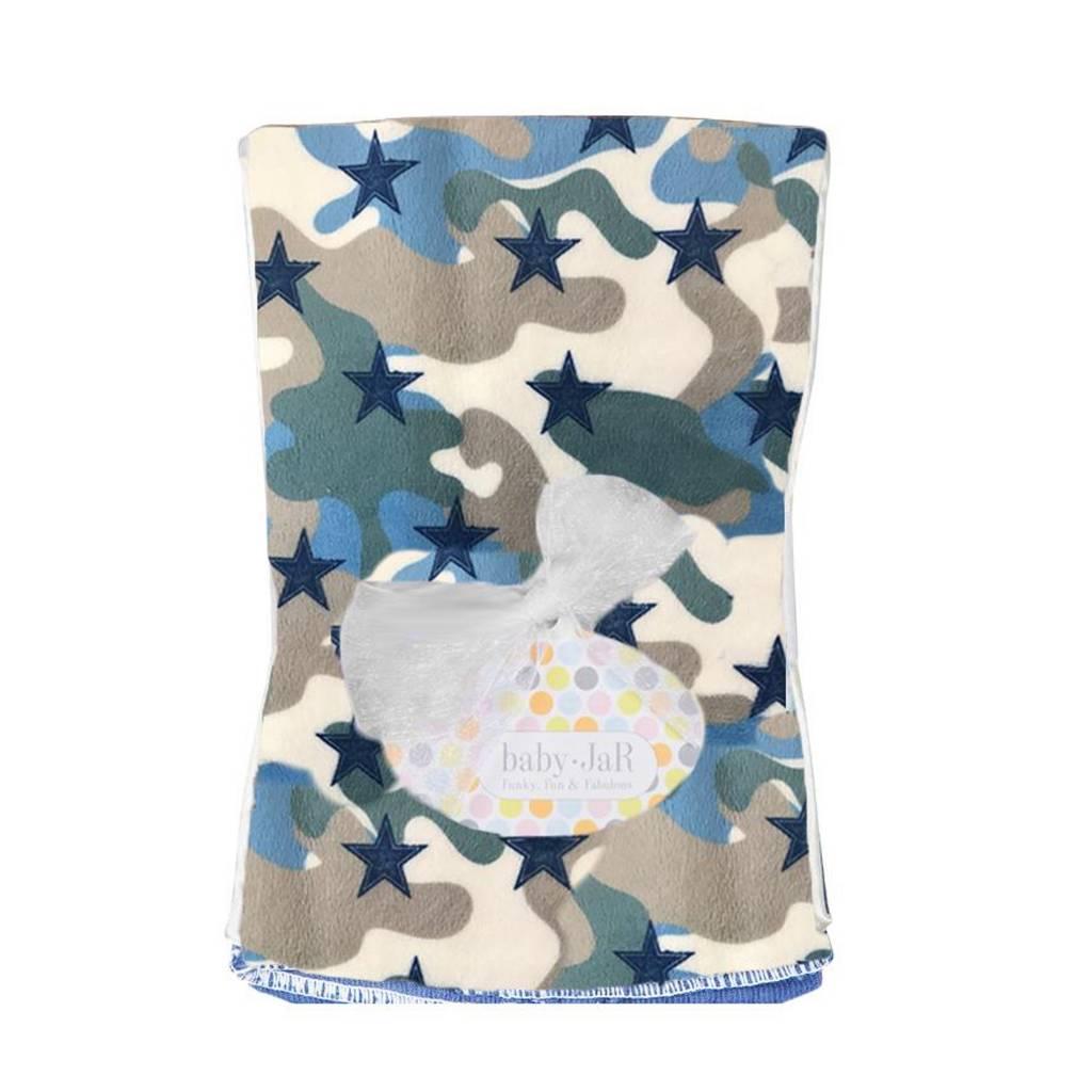 Baby Jar Camo Stars Burp Cloth