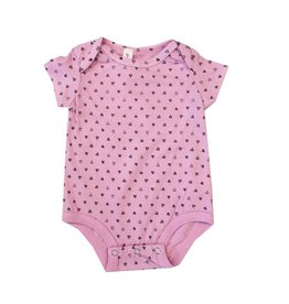Pink Peony Confetti Hearts Onesie