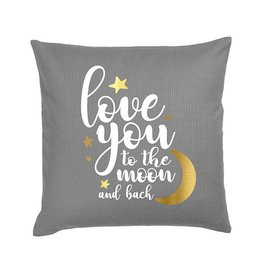 Dark Grey Moon & Back Pillow
