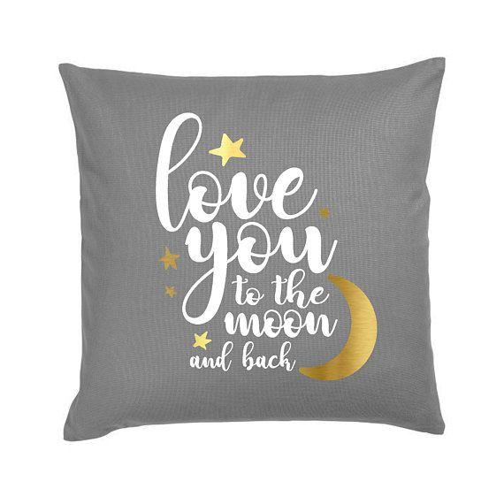 Dark Grey Moon & Back Pillow