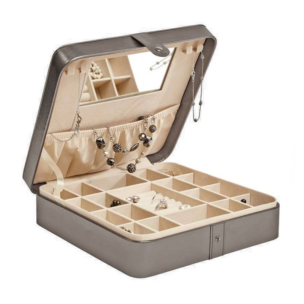 Large Pewter Snap Jewelry Case