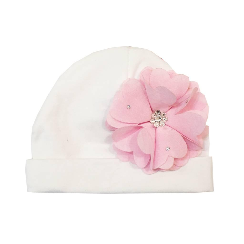 Bari Lynn Hat with Chambrey Flower
