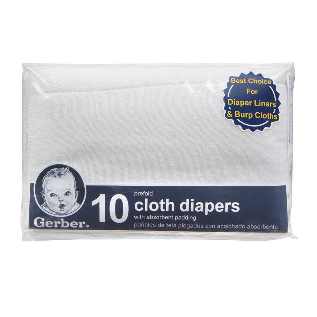 Gerber 10pk Prefold Burping Diapers