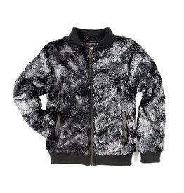 Appaman Metallic Faux Fur Bomber Jacket