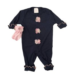 Too Sweet Navy with Pink Flower Outfit