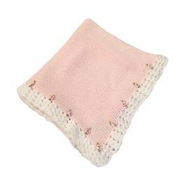 Gita Pink Rosette Blanket
