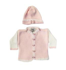 Gita Pink Rosette Sweater with Hat
