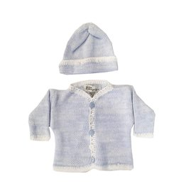 Gita Blue Heather Sweater with Hat