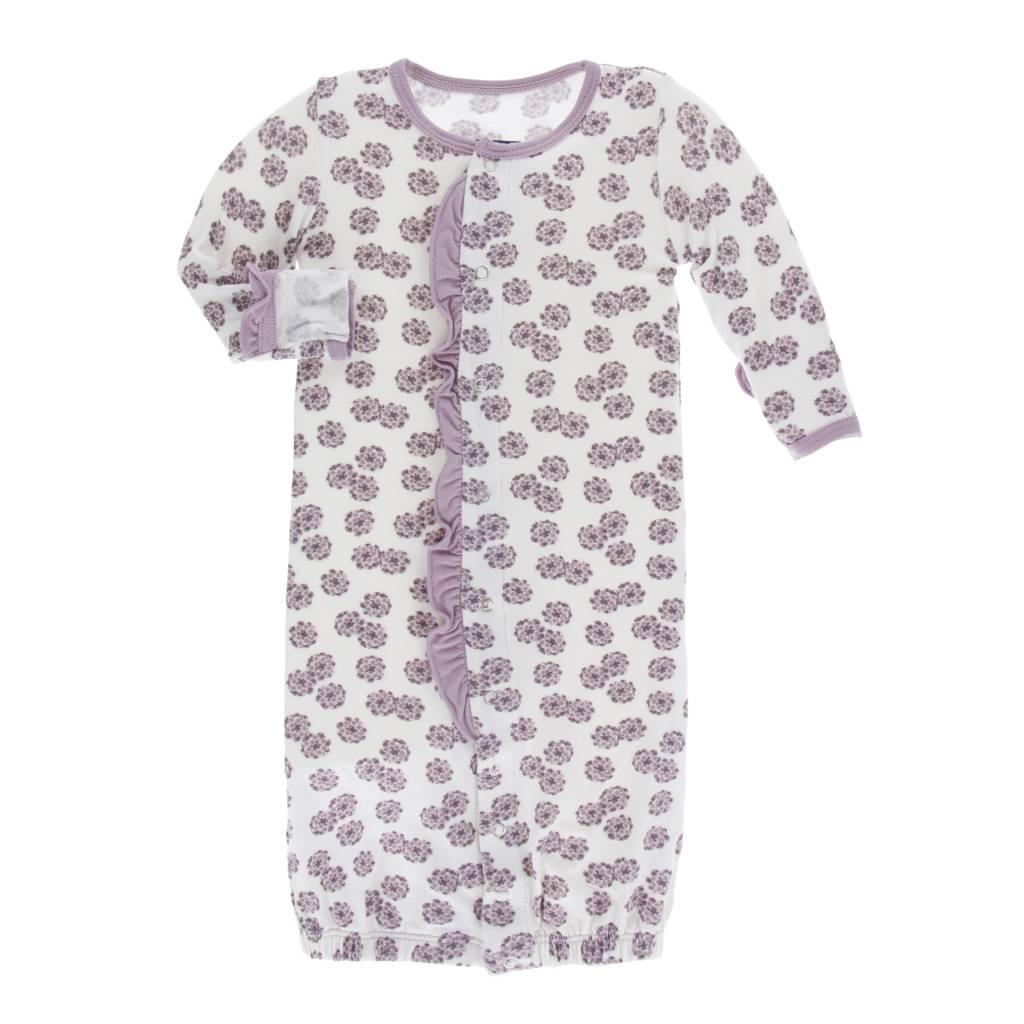 Kickee Pants Lantana Ruffle Converter Gown w/ Hat 0-3M