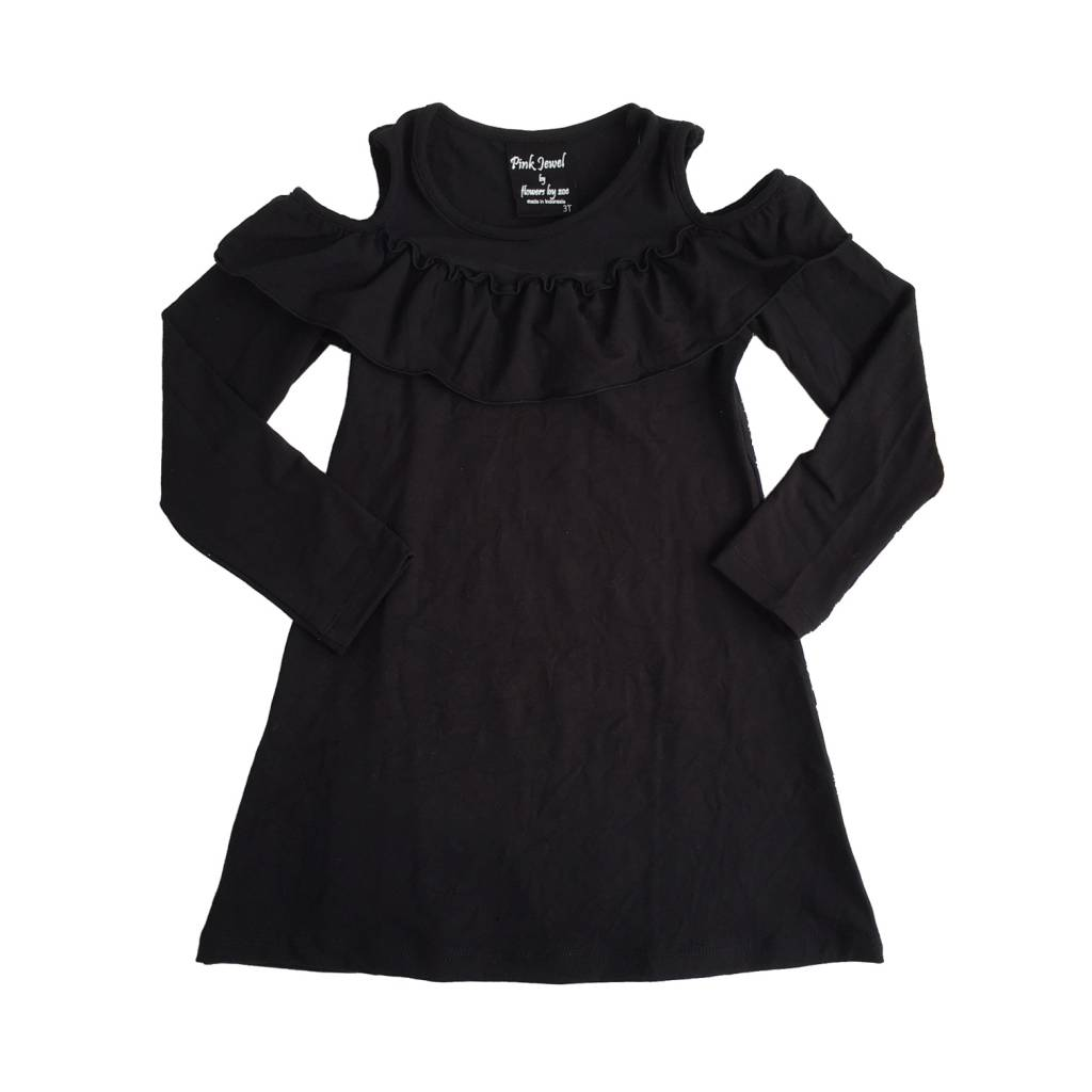 Flowers by Zoe Toddler Cold Shoulder Ruffle Dress