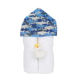 Baby Jar Shark Bite Hooded Towel