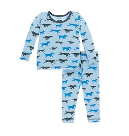 Kickee Pants Running Pups Pajama Set