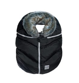 7am Enfant Black/Faux Fur Cocoon Car Seat Cover