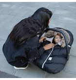 7am Enfant Black Fur Cocoon Car Seat Cover
