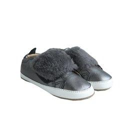 Old Soles Baby Silver Fur Slip On Sneakers