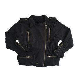 Chaser Cotton Fleece Moto Jacket