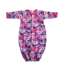 Little Mish Fuchsia Camo Thermal Gown NB