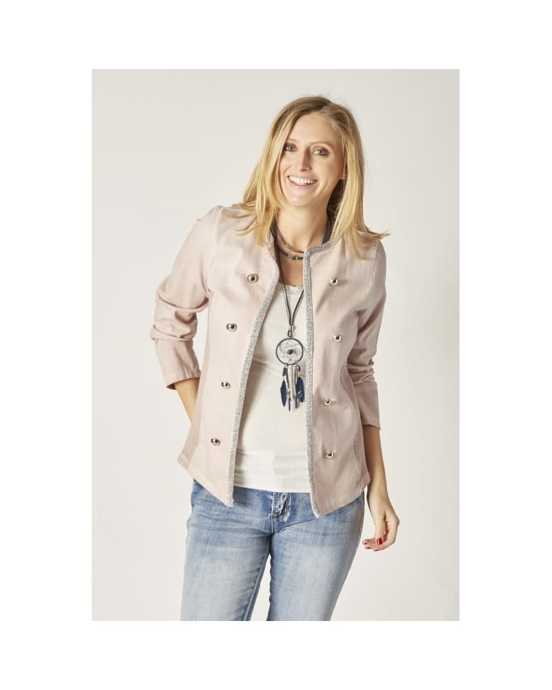 Silver Trim Military Jacket