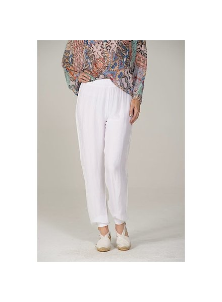 Ankle Band Silk Pant