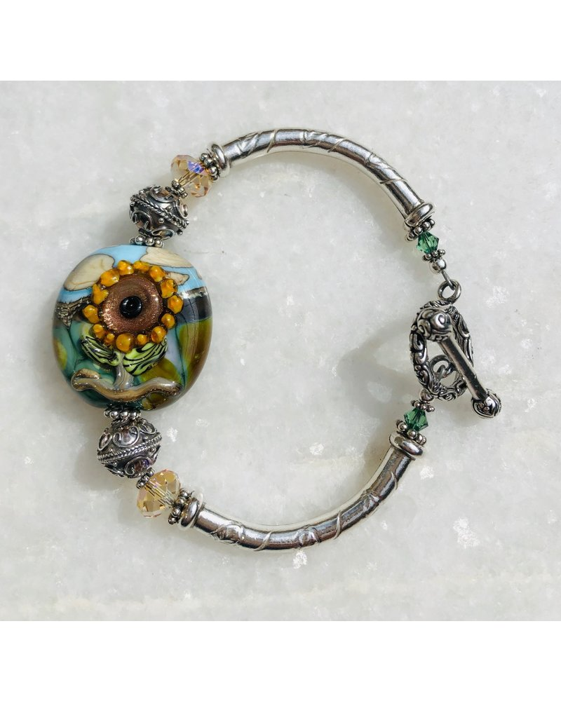 Out Of The Fire Arise Single Bead Lampglass Bracelet