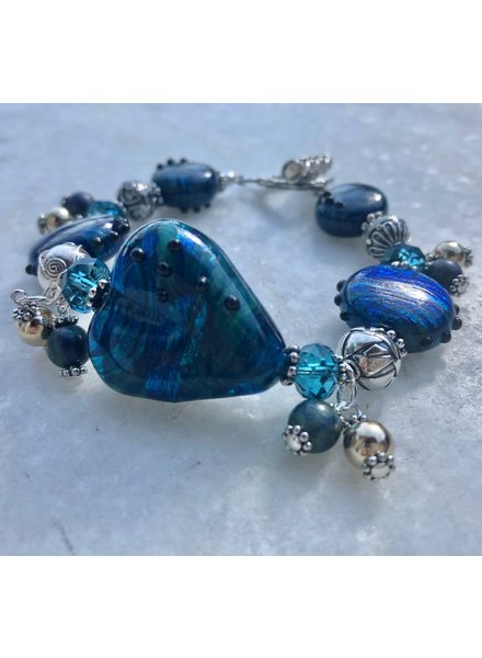 Out Of The Fire Colors of Heaven 5-Bead Lampglass Bracelet