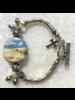 Out Of The Fire Jordan River Single Bead Lampglass Bracelet
