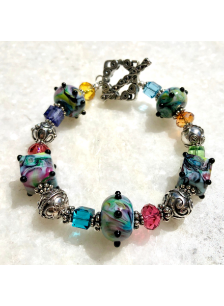 Out Of The Fire Kaleidoscope Lampglass Bracelet