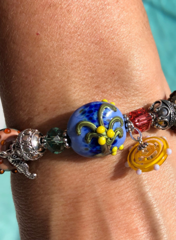 Out Of The Fire Sanibel 5-Bead         Lampglass Bracelet