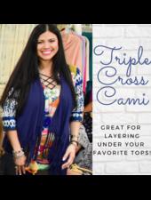 Triple Cross Lattice Front Cami