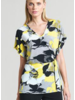 Abstract Floral Faux Wrap Top