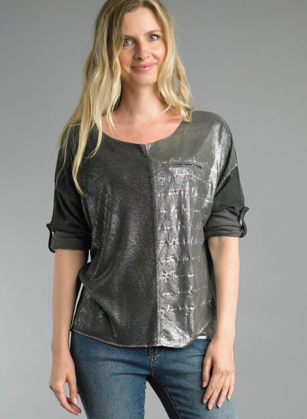 Affirmation Pullover Printed Scoop Top