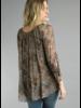 Cheetah Washable Silk Top