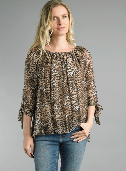 Cheetah Washable Silk Top