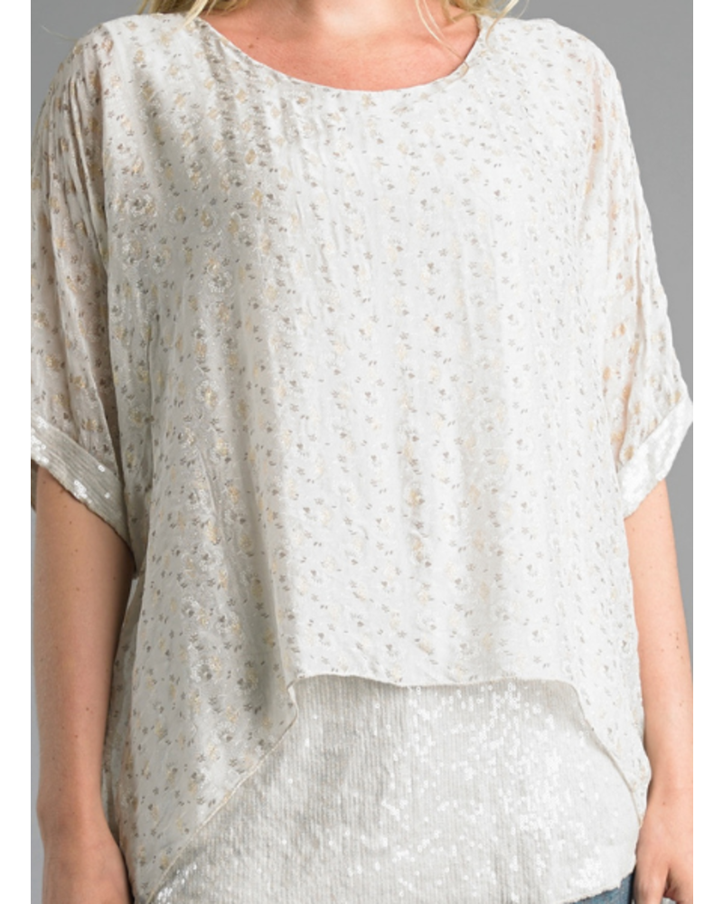 Two-Layer Sequin Tunic