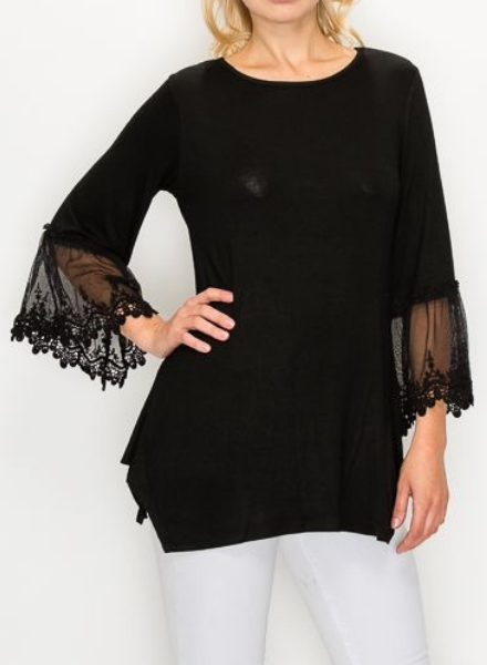 Step Above Tunic w/Lace flared sleeve