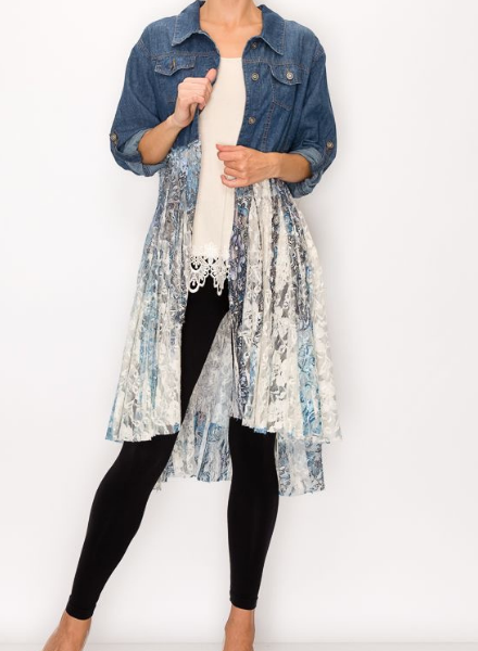 Denim Duster/Navy Lace